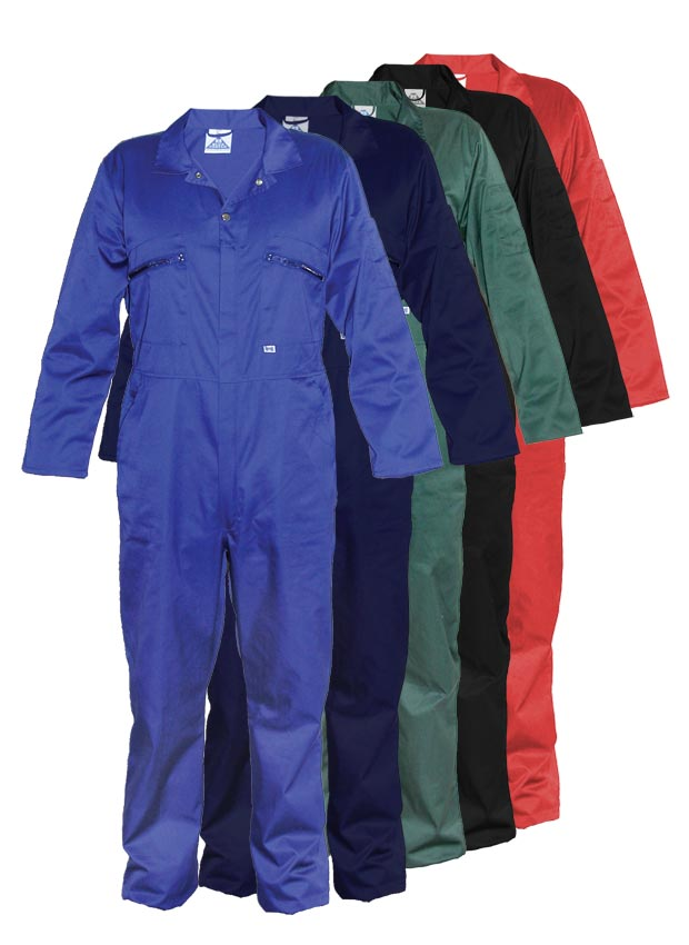 Blue Castle zip front poly-cotton overall