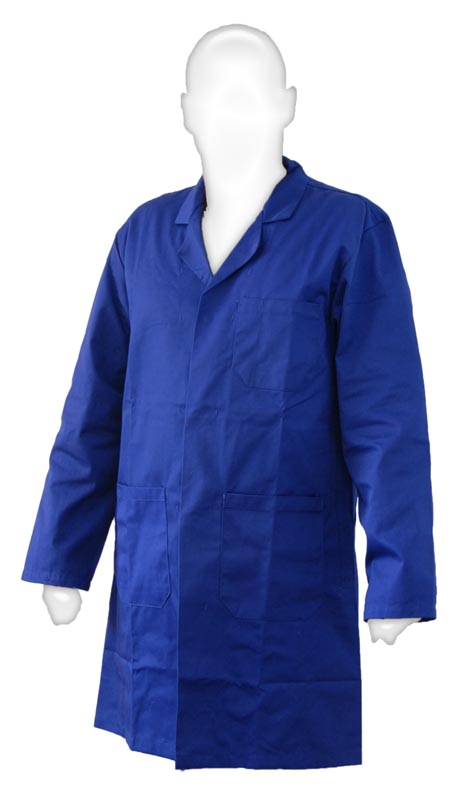 Blue Castle warehouse / lab coat